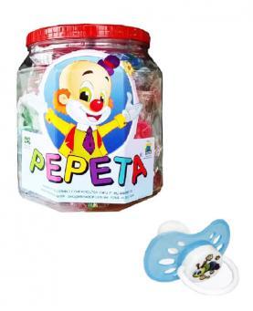 Pepeta Chupeta Redonda de Silicone Americana T2 Pote com 25 unidades - 0504-P2