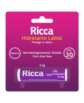 Ricca Hidratante Labial com FPS 30 Neutro - 2200