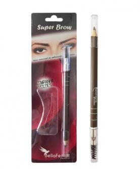 Bella Femme Lápis Universal para Sobrancelha MOLDE + ESCOVA - BF10049