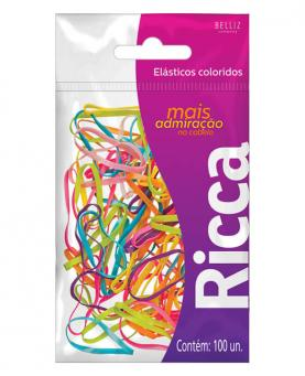 Ricca Elástico de Cabelo Colors com 100 unidades - 3341