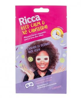 Ricca Máscara Facial Keep Calm e Xô Canseira - 3752
