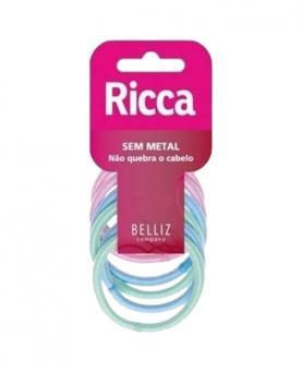 Ricca Elástico de Cabelo sem Metal com Brilho 5mm - 0899