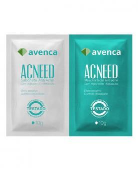 Avenca Tratamento Antiacne Acneed Sabonete 10g + Máscara 10g - AV6850