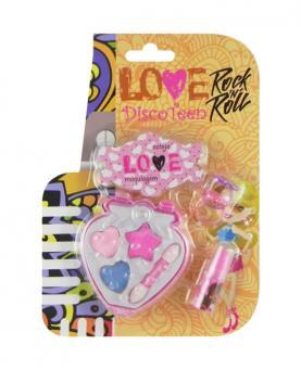 Discoteen Estojo Love Rock in Roll Morango - 86508-B