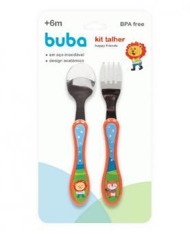Buba Kit Talher Happy Friends de Aço Inox - 7534