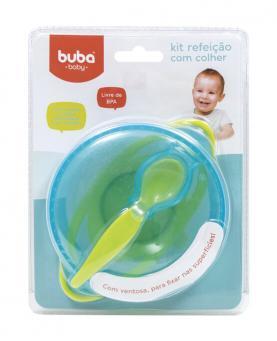 Buba Kit Refeição com Colher e Ventosa Azul - 5804