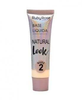 Ruby Rose Base Líquida Natural Look Nude cor 02 - HB8051-N2