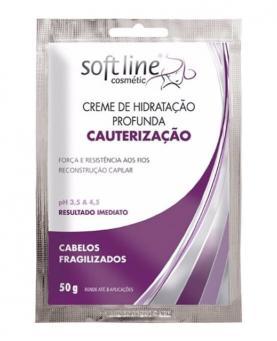 Soft line Sachê Creme de Hidratação Profunda Cauterização 50g - 52358