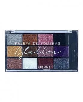 Bella Femme Paleta Glitter de Sombra com 12 tonalidades - BF10062