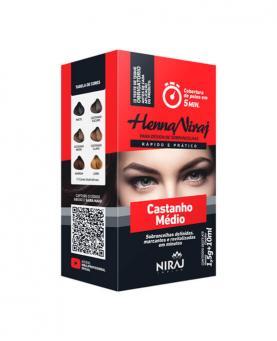Niraj Henna 10ml Castanho Médio - 34053