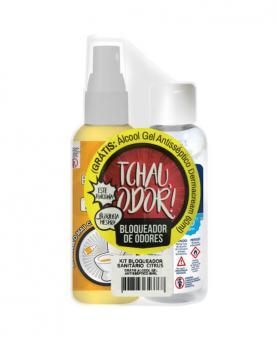 Soft Clean Kit Bloqueador de Odores Citrus 60ml para Sanitários + Álcool em Gel 60ml - 34539