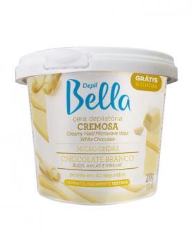 Depil Bella Cera Cremosa Micro-ondas Chocolate Branco 200g - PA1176