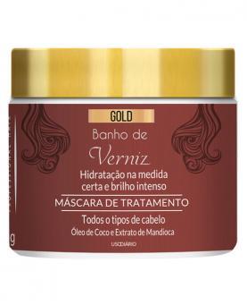 Kera Brasil Banho de Verniz Gold Máscara de Tratamento 500g - 44711
