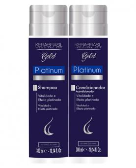 Kera Brasil Platinum Kit Gold Shampoo + Condicionador 300ml - 44964