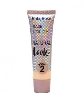 Ruby Rose Base Líquida Natural Look Bege cor 02 - HB8051-B2