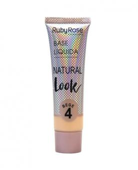Ruby Rose base Líquida Natural Look Bege cor 04 - HB8051-B4