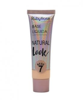 Ruby Rose Base Líquida Natural Look Bege cor 07 - HB8051-B7