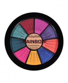 Ruby Rose Mini Paleta de Sombras Rainbow com Primer - HB9986-1