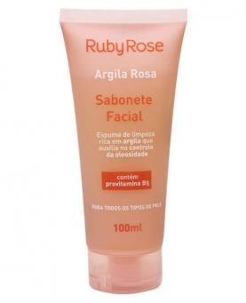 Ruby Rose Argila Rosa Linha Facial Sabonete 100ml - HB324