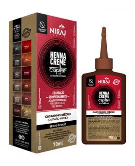 Niraj Henna Creme Capilar Castanho Médio 70ml - 90066