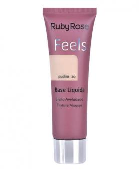 Ruby Rose Base Líquida Feels Pudim Efeito Aveludado 29ml - HB8053-1
