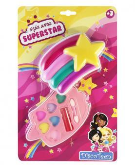 Discoteen Estojo de Maquiagem Arco-Íris Seja uma Superstar - 98757-B