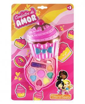 Discoteen Estojo de Maquiagem Confeitos de Amor Cupcake - 98757-D