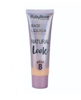 Ruby Rose Base Líquida Natural Look Bege cor 08 - HB8051-B8