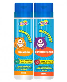 Eco Toys Kit Monster Hipoalergênico Shampoo 300ml + Condicionador 300ml - 45510