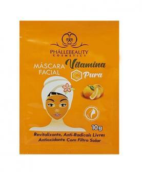 Phállebeauty Máscara Facial Vitamina C Pura Com Filtro Solar 10g - PH018