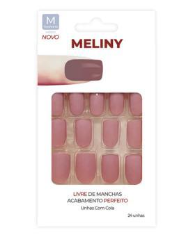 Meliny Unhas Postiças com Cola Tamanho M - 52756