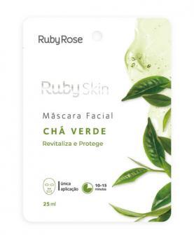 Ruby Rose Máscara Facial Chá Verde 25ml - HB704