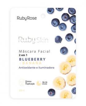 Ruby Rose Máscara Facial Blueberry + Banana 25ml - HB705