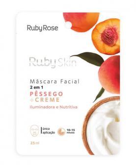 Ruby Rose Máscara Facial Pêssego + Creme 25ml - HB708