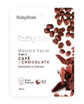 Ruby Rose Máscara Facial Café + Chocolate 25ml - HB709