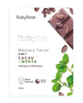 Ruby Rose Máscara Facial Cacau + Menta 25ml - HB710