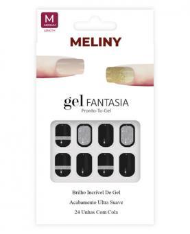Meliny Unha Postiça Gel Fantasia Brilho de Gel - 15276