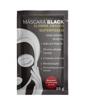 Kera Brasil Máscara Facial Black Com Carvão Vegetal Sachê 15g - C00762