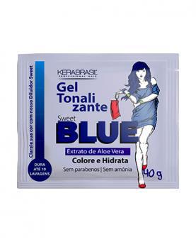 Kera Brasil Gel Tonalizante Sweet Blue Sachê 40g - C00717