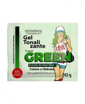 Kera Brasil Gel Tonalizante Sweet Green Sache 40g - C00694
