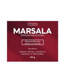 Kera Brasil Máscara Matizadora Marsala Sachê 40g - 45688