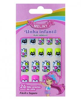 Meliny Unha Infantil Auto Adesiva com 24 unidades - 52787