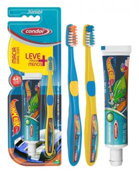 Condor Escova + Gel dental Hotweels Jr - 98162