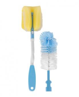 Petita Kit Azul Escova + Esponja Para Mamadeira - 1182-AZ
