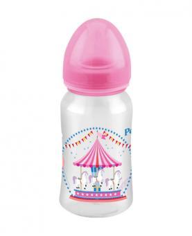 Petita Mamadeira Super Cristal Rosa com Bico em Silicone 270ml - 3429-RS