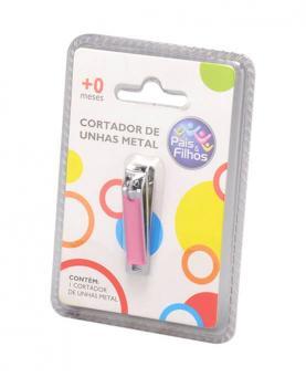 Pais e Filhos Cortador de Unhas Infantil Rosa de Metal - 7844