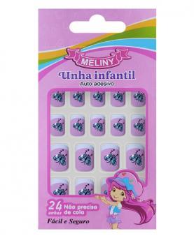 Meliny Unha Infantil Auto Adesiva com 24 unidades - 52787-03