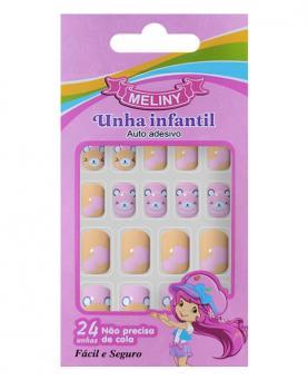 Meliny Unha Infantil Auto Adesiva com 24 unidades - 52787-04