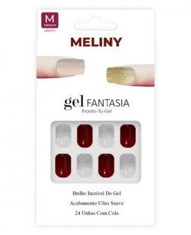 Meliny Unha Postiça Gel Fantasia Brilho de Gel - 15276-02