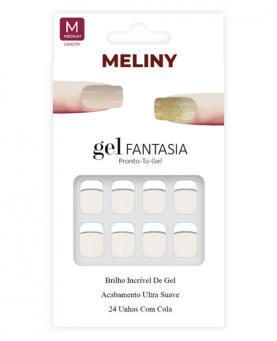 Meliny Unha Postiça Gel Fantasia Brilho de Gel - 15276-06